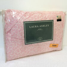 Laura Ashley Home *HAMPTON* Rose Twin Bedskirt Dust Ruffle Floral Pink White NEW