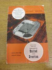 20/01/1965 Manchester United V Everton [tra le città le fiere COPPA] (piegato, piegato