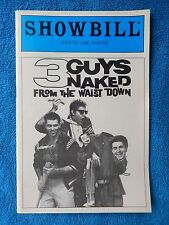 3 Guys Naked From The Waist Down - Minetta Lane Theatre Playbill - April 1985