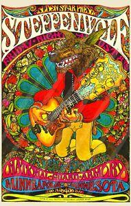 Steppen Wolf 1969 Music Poster/ National Guard Armory Minneapolis, Minnesota
