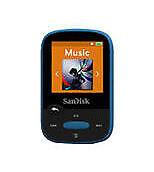SanDisk Clip Sport Blau (8GB) Digitaler Medienplayer