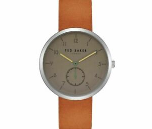 Ted Baker Josh Grey Dial Brown Leather Strap Mens Watch TE50011008 RRP £165