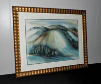 Marilyn Osborn Feighner original watercolor painting wooded landscape Indiana