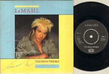"LIMAHL Too Much Trouble 7"" VINYL Autographed"