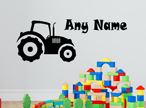Personalised Name Tractor Wall Sticker Decal Boys Custom Name Kids Children Art