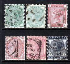SG164-169 1880-81 Set GU(628)