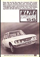 "1969 MAZDA 1500 SEDAN AD PRINT WALL POSTER PICTURE 33.1""x23.4"""