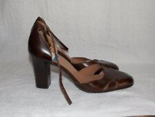 Circa Joan David Brown Leather Heels 7.5M For Women Used
