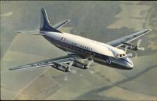 Air France Airplane in Flight Vickers Viscount VINTAGE AIRLINE ISSUED Postcard