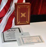 "GEORGE H.W. BUSH Signed Easton Press BOOK, ""All the Best"" Autograph, COA, UACC"