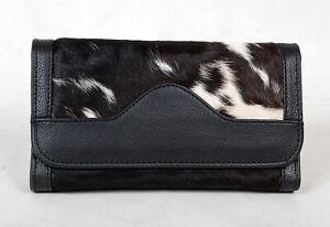 100% Real Cowhide Wallet Real Leather Hair ON Western Ladies Wallets  SA-7112