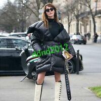 Luxury Womens 100% Duck Down Coat Thick Warm Irregularity Parka Outwear Jacket Y