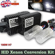 H7 100W Car Xenon Conversion KIT HID Headlight Slim Ballasts 6000K White Bulbs