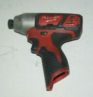 """Milwaukee 2462-20 M12 1/4"""" Hex Impact Driver (Tool Only) USED"""