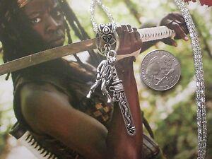 Walking Dead Michonne Katana Samuri Sword Blade Kill Zombie Necklace