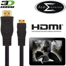 Sumvision Cyclone Voyager, Titan, Astro Tablet Pc Hdmi Mini Tv 2,5 m de cable de plomo