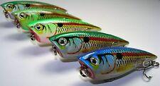 Lure Set T5D-Bass Fishing Popper-Top Water Chugger 5 New Baits-Ships Free