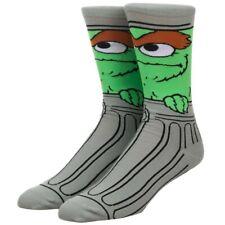 Oscar The Grouch Seasame Street Bioworld Crew Socks Men's 8-12 Unisex Adult