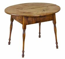 Swc-Large Figured Maple Oval Top Tavern Table, Ct, c.1760