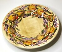 """L'ARCOBALENO By FORTINI Italian Hand Painted 16"""" Serving Platter - Italy ~ EUC"""