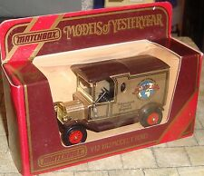 MATCHBOX - MODELS OF YESTERYEAR - 1912 MODEL T FORD VAN - MOTOR 100 SILVERSTONE