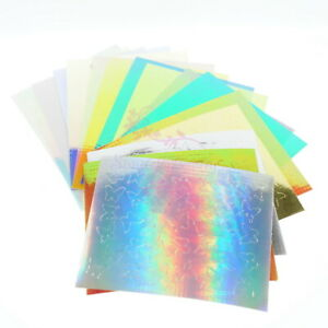 16 Candy Holo Colors Self Adhesive Nail Art Stickers Decals Manicure Decorations