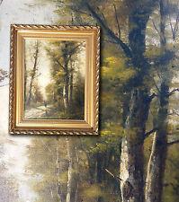 BARBIZON Französisches antikes Landschaftsgemälde. Signiert P. ARMAND um 1882