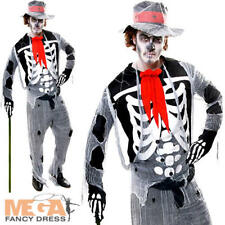 Voodoo Man Men's Skeleton Day of The Dead Halloween Fancy Dress Adults Costume