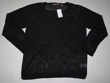 NWT Womens 525 AMERICA Scoop Neck Knit Black Sweater Long Sleeve Size L, LARGE