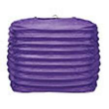 "2 purple paper square lanterns 8"" wedding party decorations"