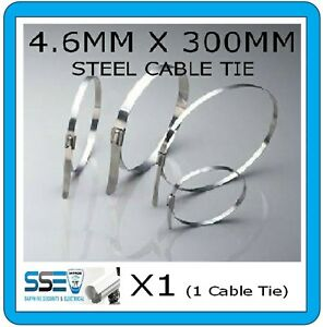 Strong Stainless Steel Cable Tie - 4.6MM X 300mm-Elec/Exhaust Professional  X1
