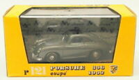 Brumm 1/43 Scale Diecast Model Car R121 - 1952 Porsche 356 Coupe - Dark Silver