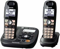 Panasonic KX-TG6592T DECT 6.0 Plus Cordless Digital Answering System 2 Handsets