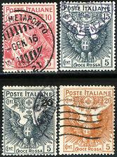 Regno d'Italia 1915/16 Pro Croce Rossa S17 n. 102/105 usati (m1504)