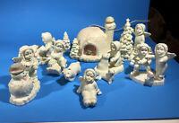 RARE Vintage Snowbabies Igloo Village set ~ 11 Piece ~ Department 56?
