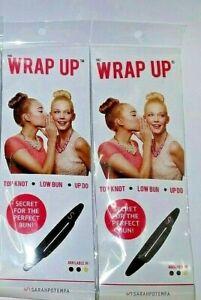 ( LOT 2 ) Wrap Up Hair Care Beachwaver TOP KNOT LOW BUN UP DO Bun Maker Black