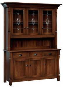 Custom US Hand Made | Solid Hard Wood | Conewago | China Hutch | Cabinet