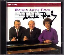 Menahem PRESSLER Signed BEETHOVEN Triple Concerto BEAUX ARTS TRIO Kurt MASUR CD