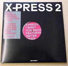 """X-PRESS 2 ft DIETER MEIER I Want You Back 2002 UK promo 2 x vinyl 12"""" Medicine8"""