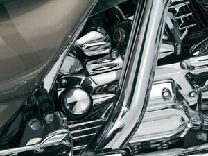 Kuryakyn 8264 Chrome Oil Filler Spout Cover (ea) Harley FLH/T 93-06