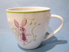 Disney Piglet Coffee Mug Cup Winnie the Pooh 80th Anniversary Ivory Green Rim