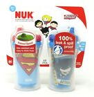 NUK Set of 2 Insulated Hard Spout Cups 9oz Justice League Design 12+ Mo BPA Free