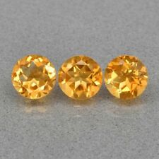 3pcs Lot 2.34 TCW 6mm Round NATURAL Yellow Citrine for Jewelry Setting