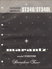 Marantz Service Manual Model ST340 ST340L stereo tuner receiver original Book