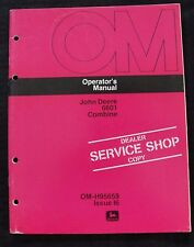 GENUINE 1976 1977 JOHN DEERE 6601 COMBINE OPERATORS MANUAL VERY NICE SHAPE