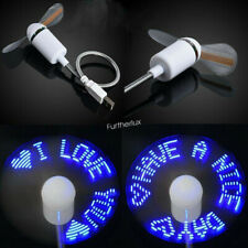 Cool Office Gadget USB LED Flexible Clock and Message Fan For Laptop Notebook PC