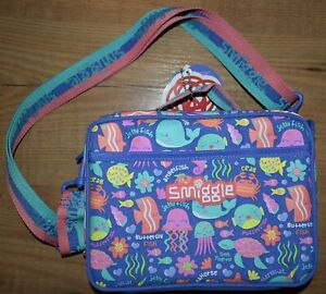 Smiggle Lunchbox insulated bag school girl Purple sea life seahorse shell whale