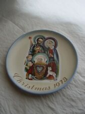 1973 GERMANY CHRISTMAS LIMITED EDITION REMARKABLE WALL PLATE B HUMMEL,