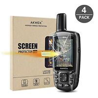 Pack of 4 Tempered Glass Screen Protector for Garmin GPSMAP 62 64 64s 64st, Ak