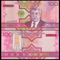Turkmenistan 100 Manat Banknote, 2005, P-18, UNC, Asia Paper Money